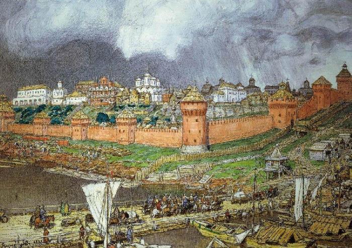 Как выглядели Кремлевские куранты во времена Ивана Грозного