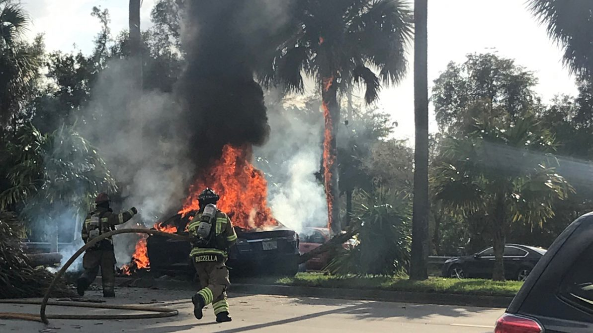 Tesla сожгла своего водителя