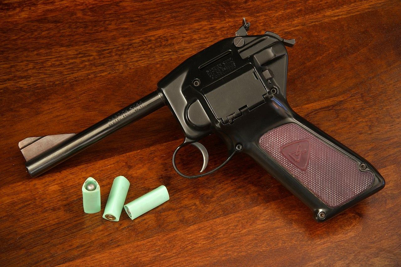 Револьвер без барабана с треугольным патроном