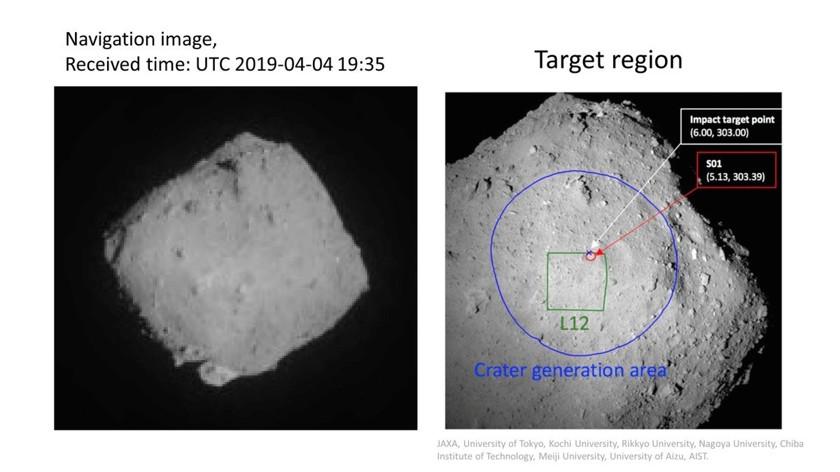 Космическая станция сбросила бомбу на астероид взрыва, можно, станция, астероид, чтобы, метров, кратера, астероида, крайне, должна, грунта, образцы, собрать, будет, операции, взорваться, гдето, около, взрыв, судить