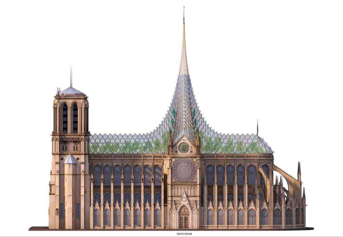 А давайте переделаем Нотр-Дам шпиль, реставрации, купол, Фостер, собор, сделали, архитектурной, здание, восстанавливать, предлагает, архитектор, февраля, Берлине, Рейхстага, выглядело, зданием, потом, после, например, остальным