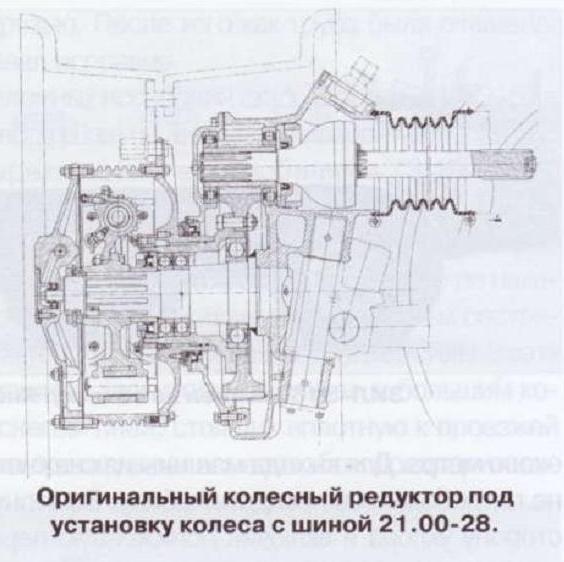 Оригинальный колесный редуктор