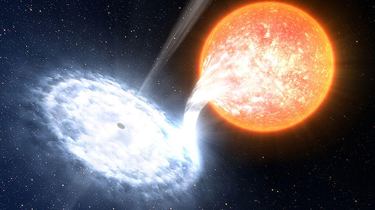 Самая активная черная дыра пожирает одно Солнце в день