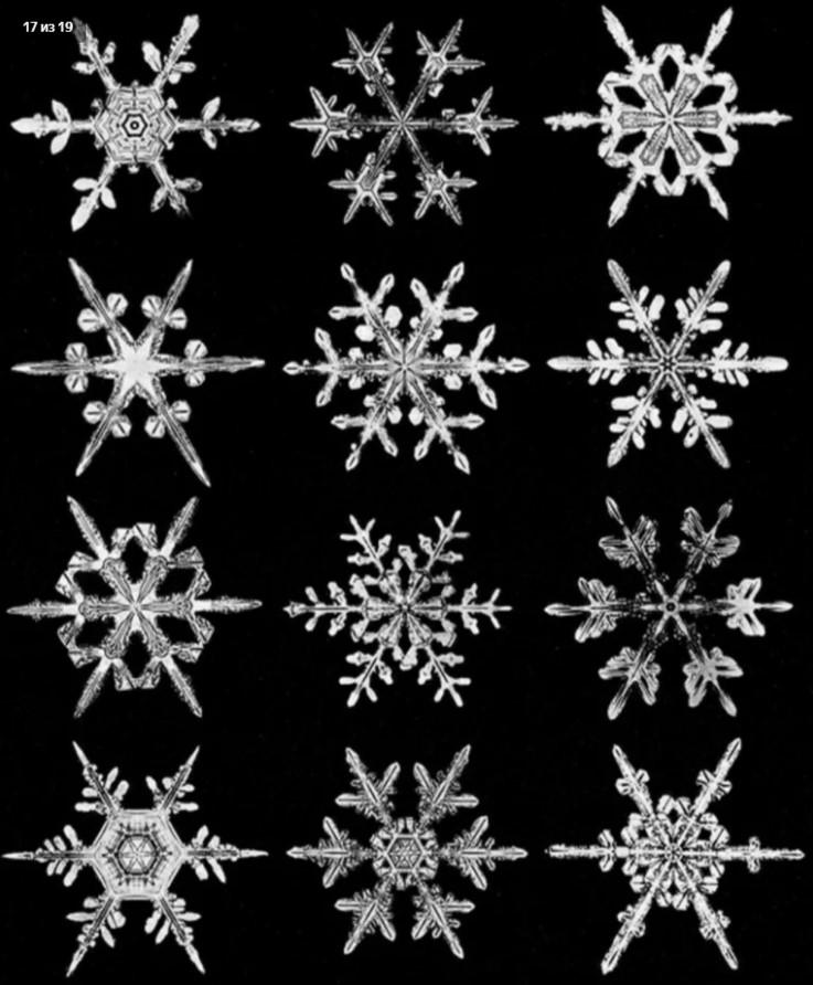 Двух одинаковых снежинок не бывает Явления природы