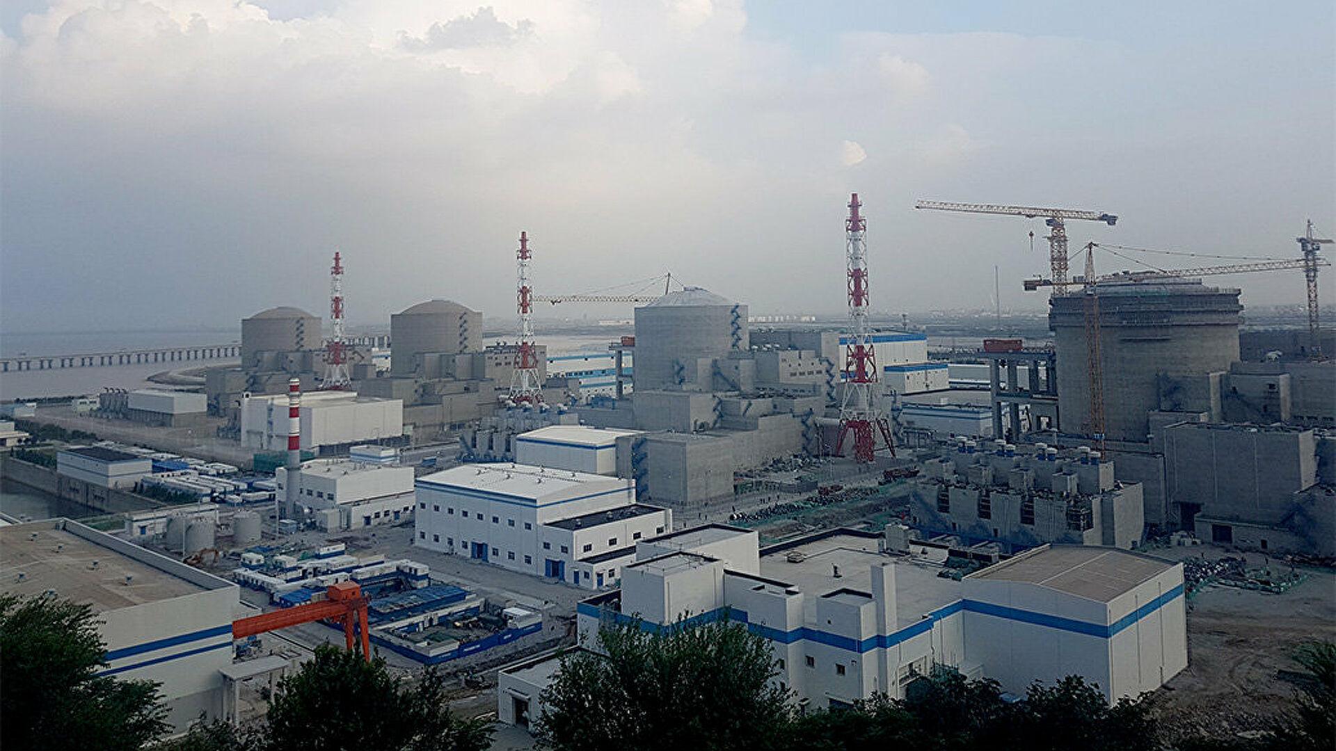 Россия строит в Китае  четырех новых энергоблока на двух АЭС Китай