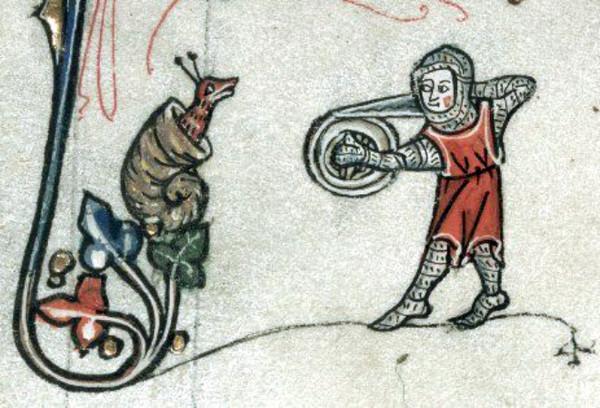 Почему на средневековых рисунках рыцари сражаются с улитками? История