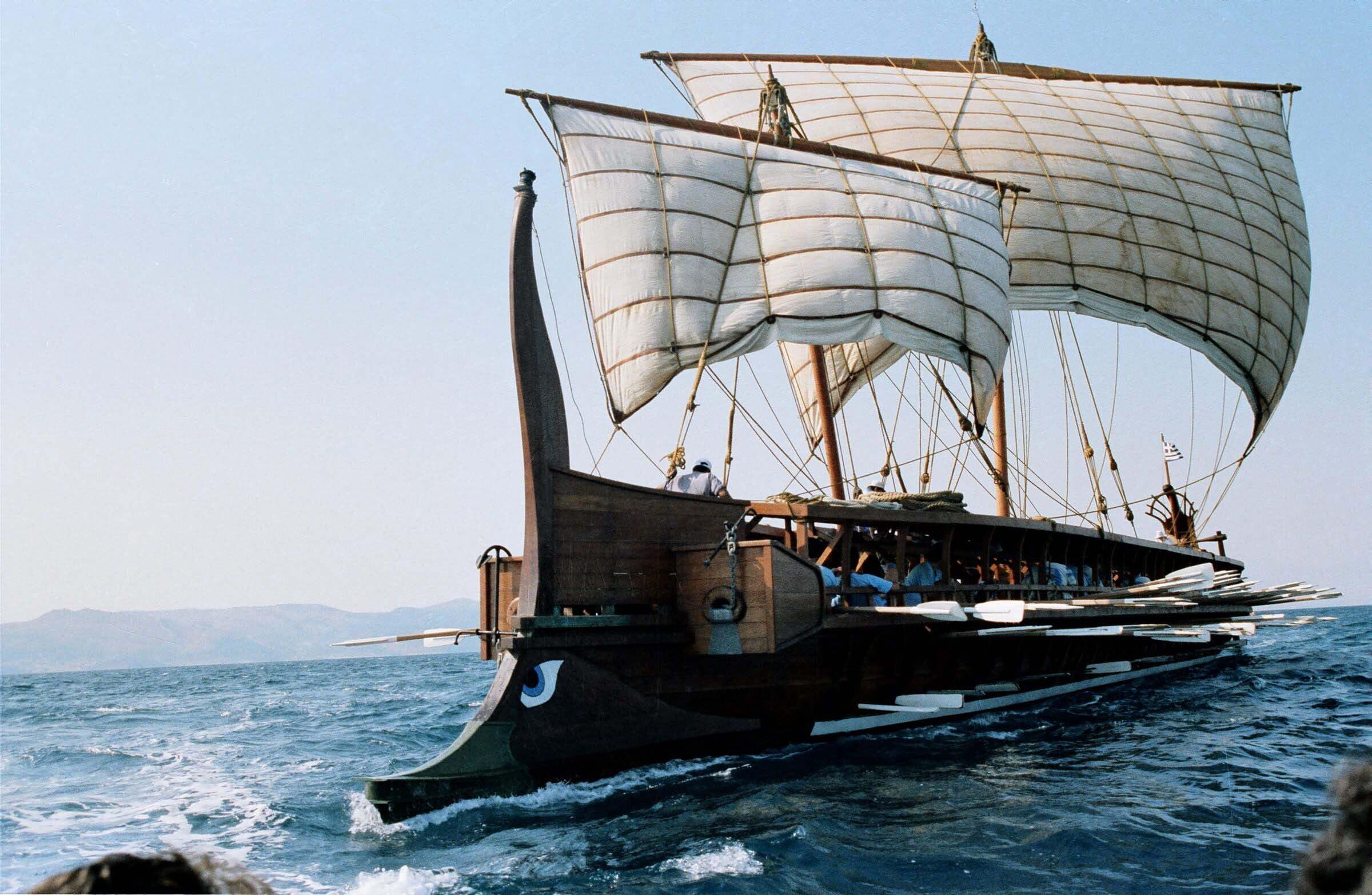 Единственная реплика греческой триремы в мире Корабли