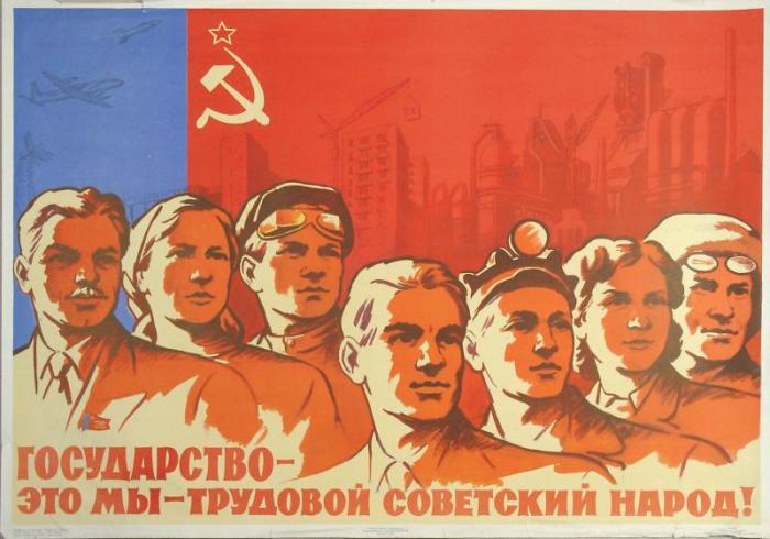 Государство и советский народ