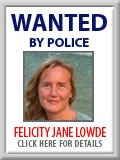 Wanted: Felicity Jane Lowde