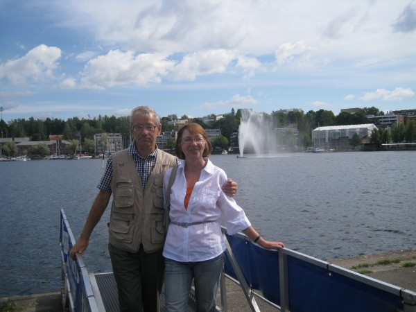С Ольгой на причале в Лапперанте