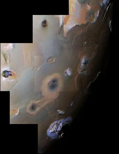 Voyager 1 mosaic image of Io