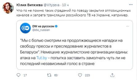 Українське телебачення в России.