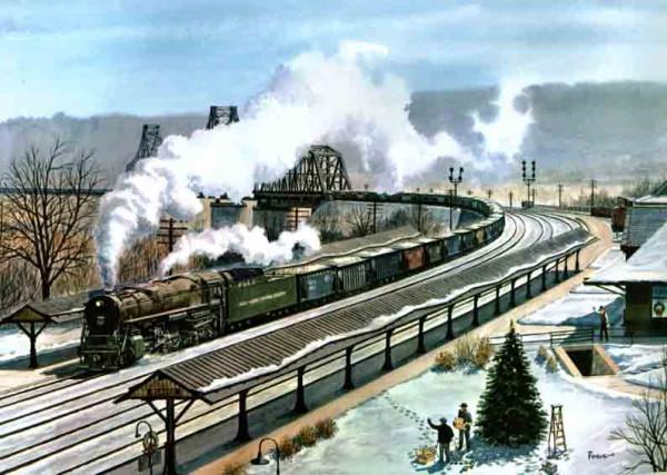 Beaver Station and Ohio River Bridge, 1949