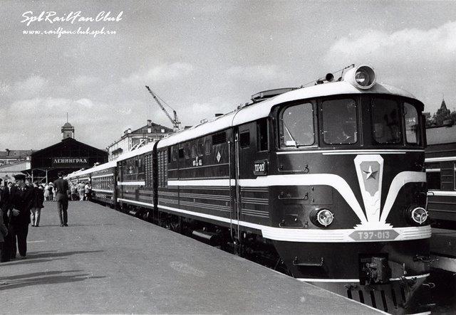 Тепловоз ТЭ7-013, Ленинград-Главный, 1960-е гг