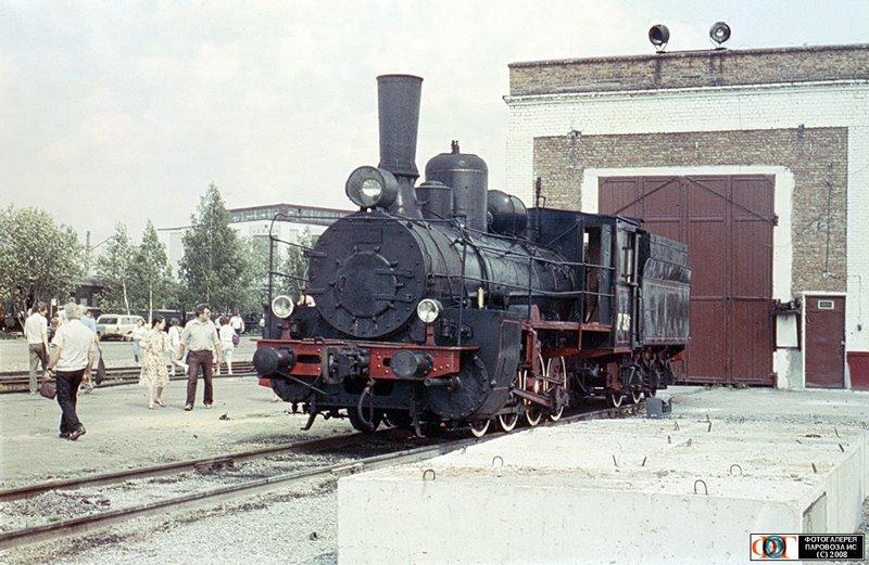 Паровоз Ов-324 на Экспериментальном кольце ВНИИЖТ 1989