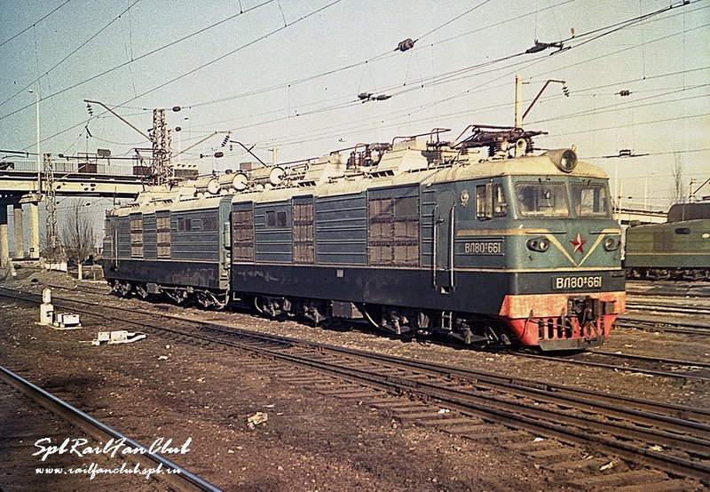 Электровоз ВЛ80в-661, 1970. Фото НЭВЗ