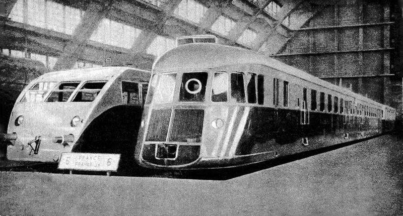 Le train Renault - Offizielle Karte Exposition Bruxelles 1935