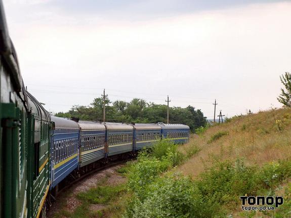 Поезд Киев - Одесса - Измаил мчится по Бессарабии