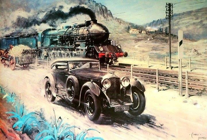 Бентли и поезд