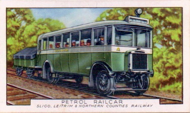 Collectable cigarette card from the Gallaher Ltd series entitled Trains Of The W
