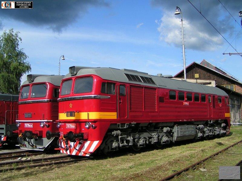 Tепловозы T679.1578 и T679.1168. Депо Врутки, Словакия