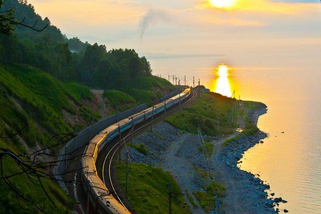 Trans-Siberian-near-lake-Baikal