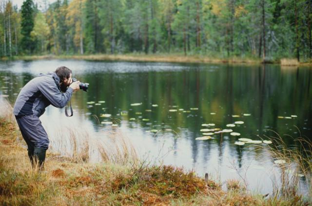 Александр Панов на болотах
