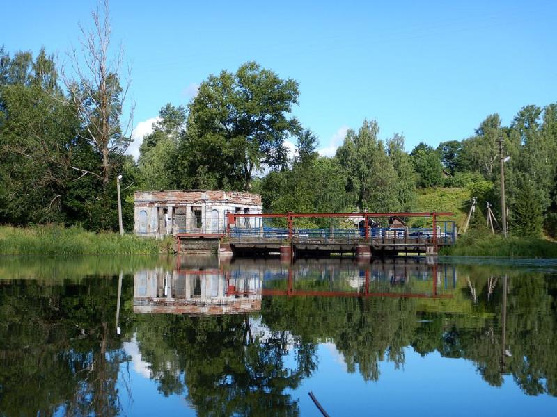 Бывшая ГЭС в Сиверском (N59.35703° E30.07266°)