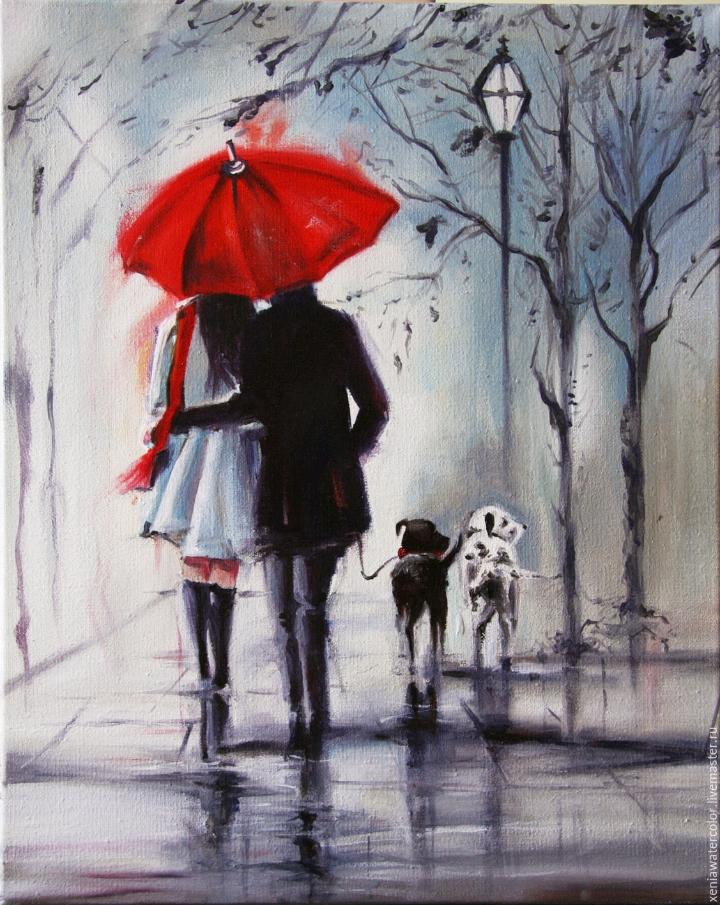 Картинки под зонтом вдвоем