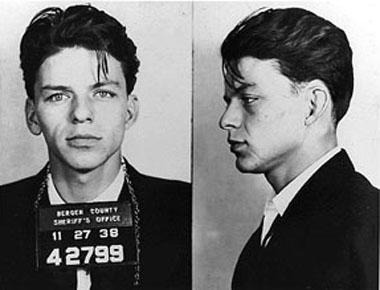 Frabk Sinatra - mugshot