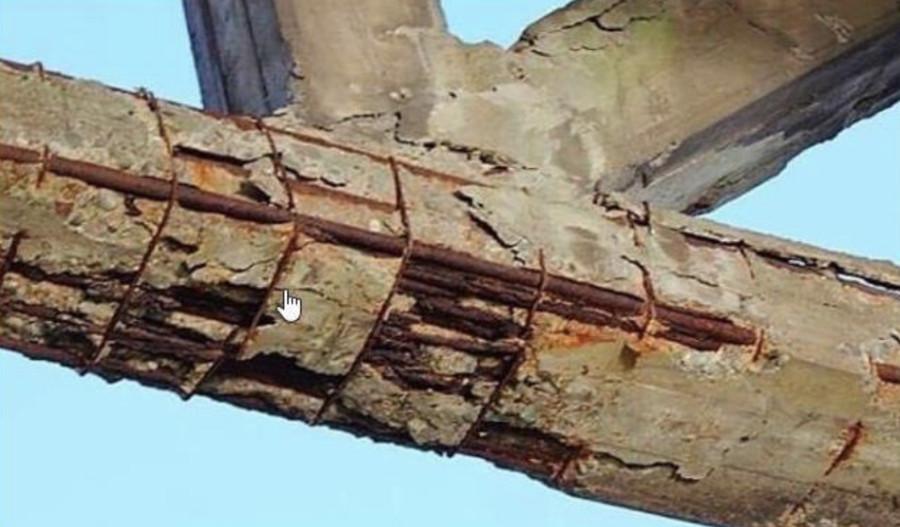 Вот так выглядел виадук в Генуе до обрушения