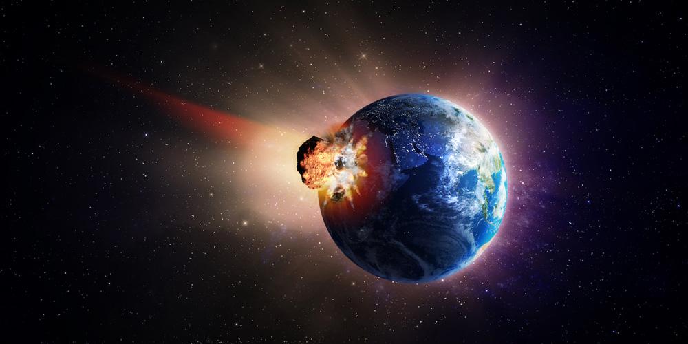 Цунами высотой 1,5 км, вызванное падением астероида