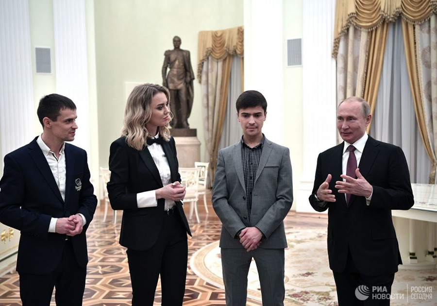"""Путин дал советы победителям премии """"Немалый бизнес"""""""