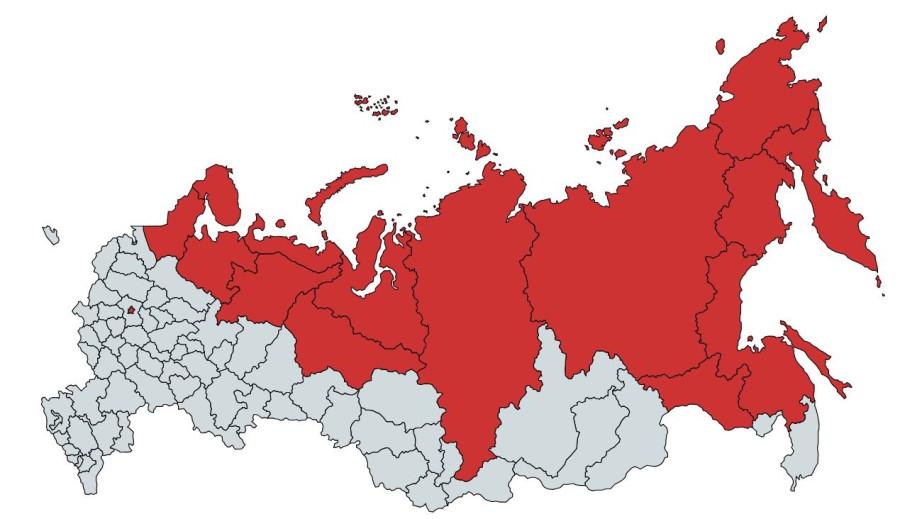 Население Москвы и равное ему население других территорий
