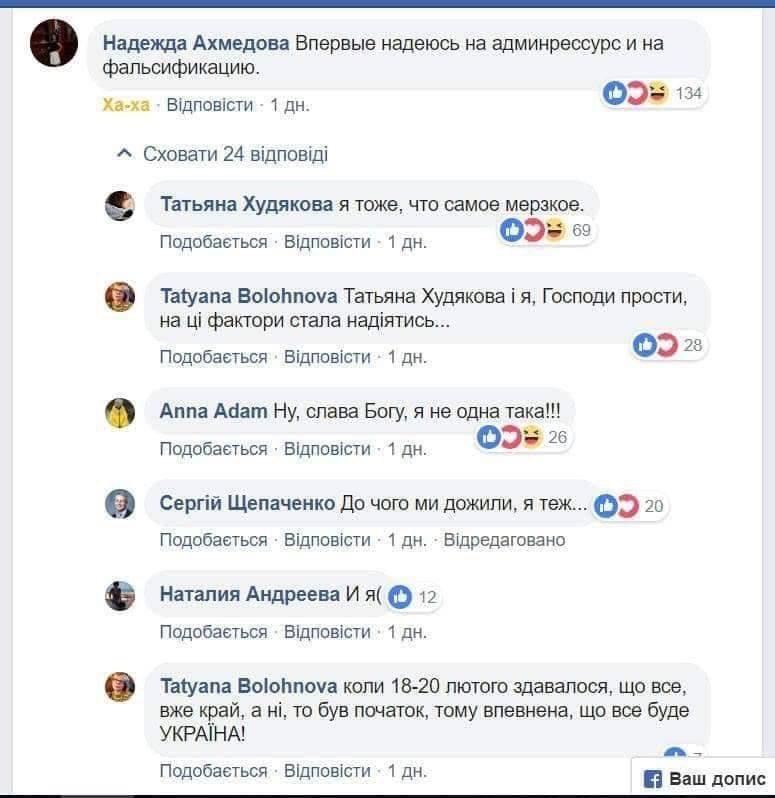 Избиратели Порошенко