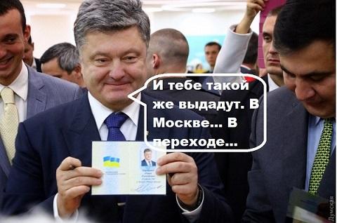 В Раде предложили раздавать украинские паспорта в центре Москвы. В переходе?