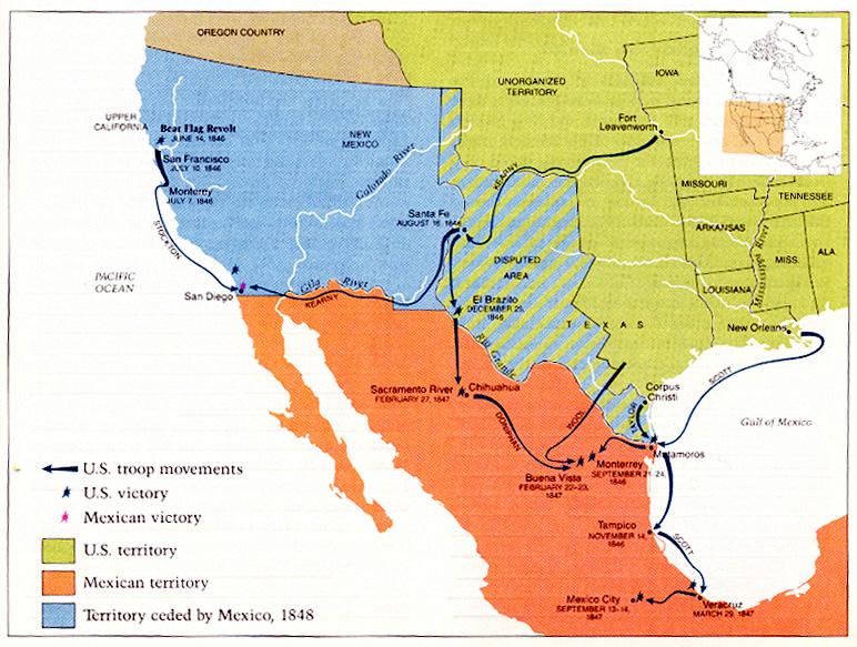 """13 мая в 1846 году американские империалисты напали на """"суверенную"""" Мексику"""