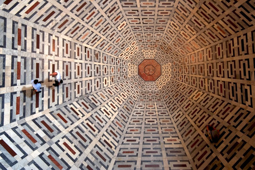 picturePatterns on the floor of the Florence Cathedral