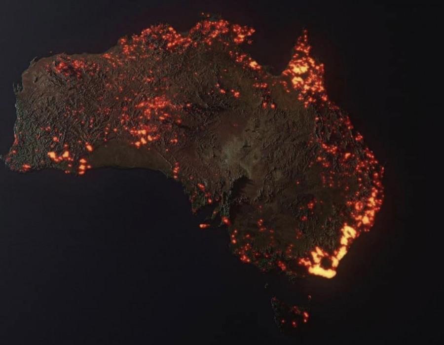 Горящая вся Австралия