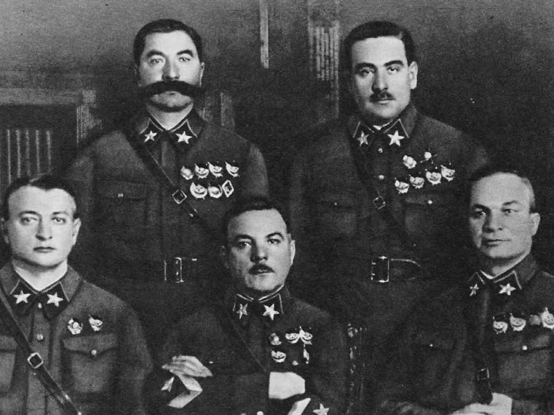 М. Н. Тухачевский, К. Е. Ворошилов, А. И. Егоров, С. М. Буденный, В. К. Блюхер