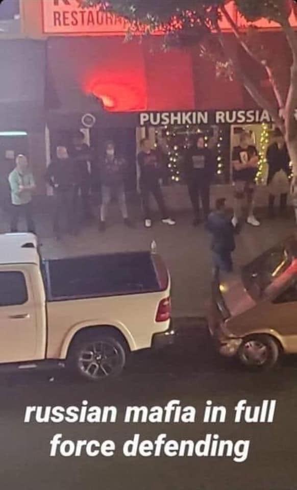 Russian mafia in full force defending