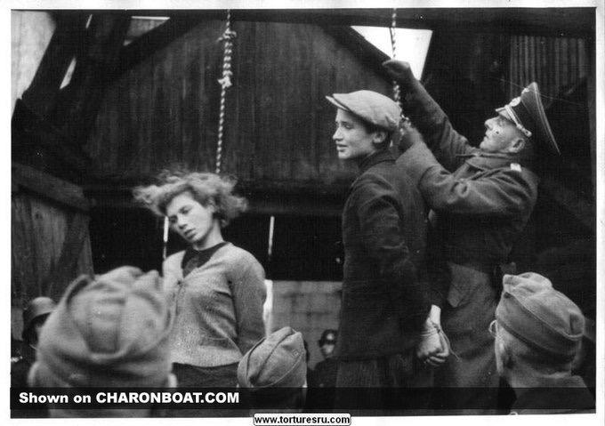Это страшная фотография казни белорусских партизан