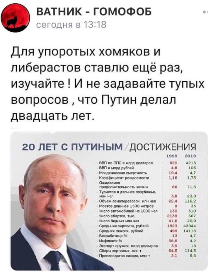 Двадцать лет с Путиным
