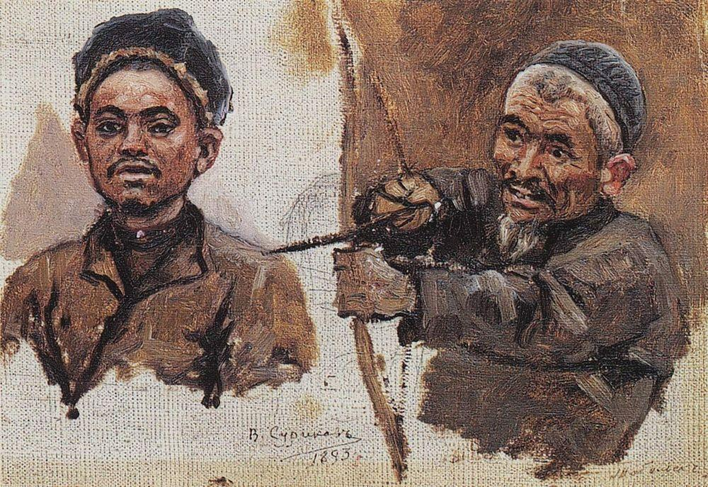 Головы татар (старика и молодого). 1893