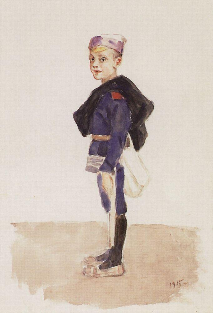 Портрет М.П.Кончаловского в детстве. 1915