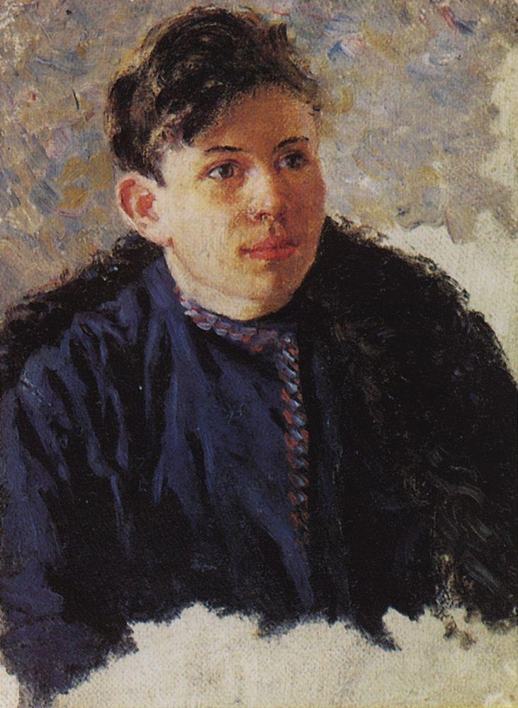 Портрет юноши Леонида Чернышова. 1889-1890