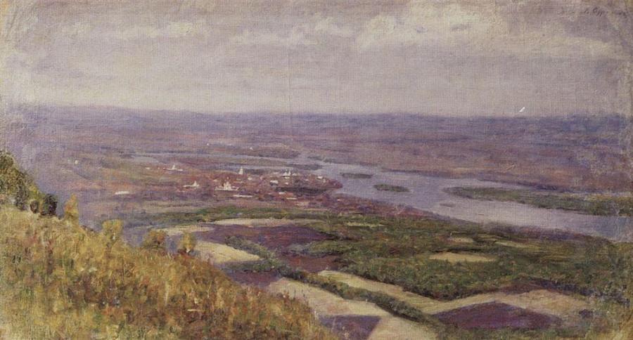1 Вид на Красноярск с сопки. 1890-е