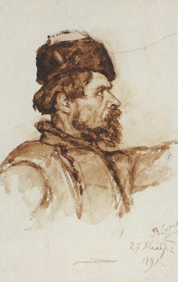 Голова казака. 1891