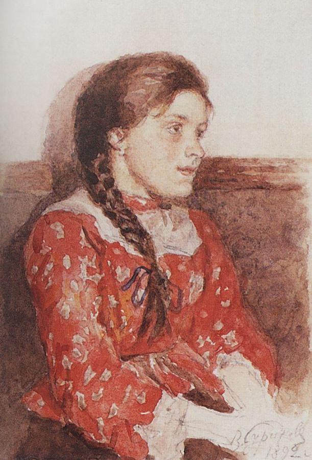 Девушка в красной кофте. 1892