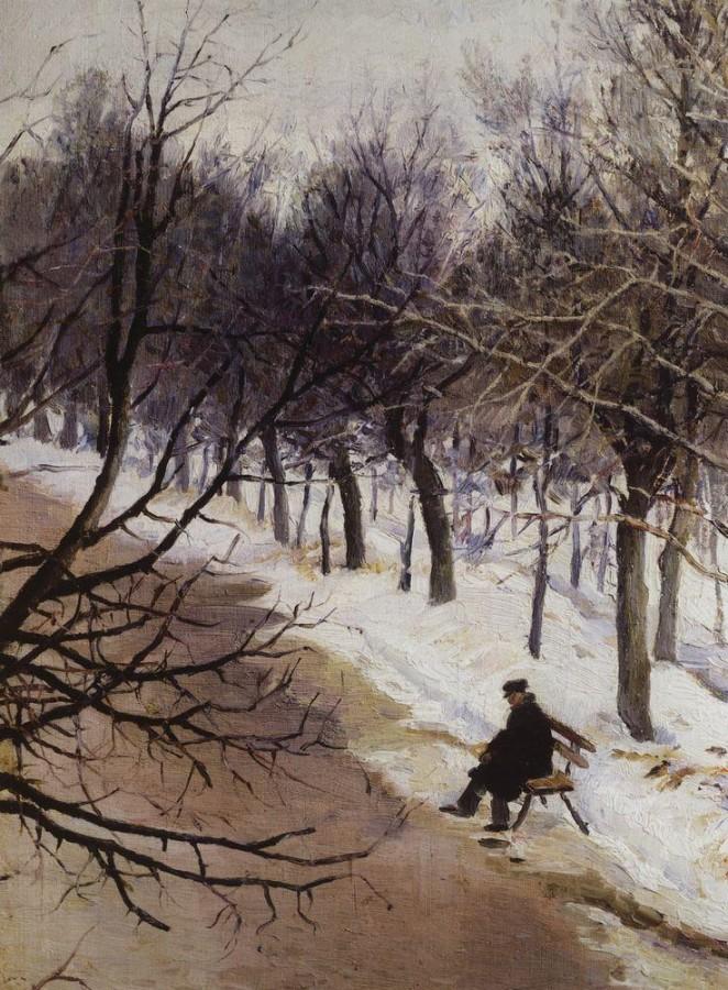 Зубовский бульвар зимою. 1885-1887